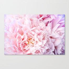 Peony Flower Photography, Pink Peony Floral Art Print Nursery Decor A happy life - Peonies 3 Canvas Print