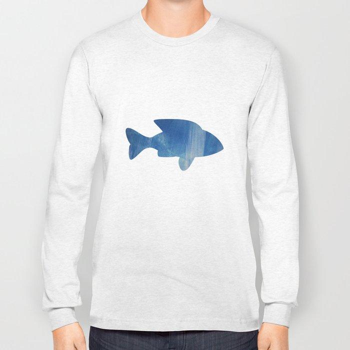 texture bleue Long Sleeve T-shirt