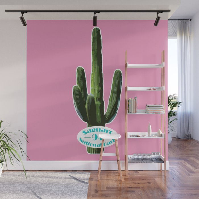 Saguaro National Park--Pink Wall Mural