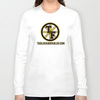 boston Long Sleeve T-shirts featuring Boston by Tables and Fables