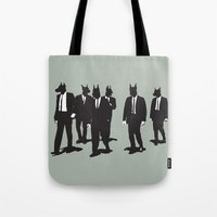 reservoir dogs Tote Bags featuring Reservoir Dogs by Clayton Dixon
