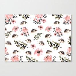 Floral hedgehog Canvas Print