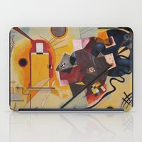 kandinsky iPad Cases featuring Wassily Study Repro yellow red blue 1925  by Christine baessler