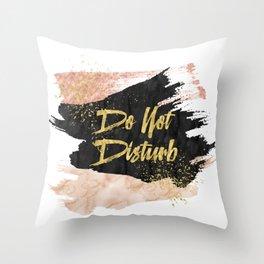 Do Not Disturb Throw Pillow