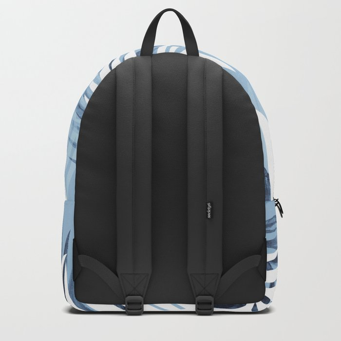 Tropical bliss - chambray blue Backpack