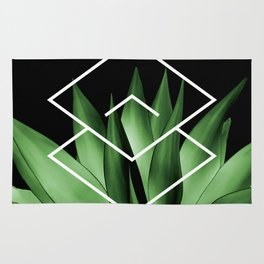 Agave geometrics III Rug