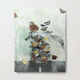 Butterfly Jar Metal Print