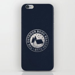 Outdoor Book Readers Club logo iPhone Skin