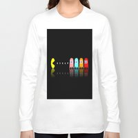 pac man Long Sleeve T-shirts featuring Pac Man by Emma Kennedy