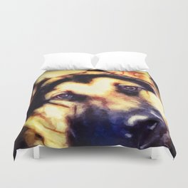 You Looking At Me?  -  Graphic 3 Duvet Cover