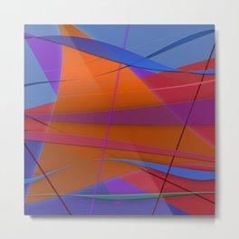 Abstract #430 Sailing Metal Print