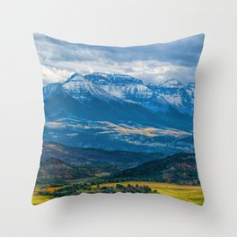Outside of Ridgway Throw Pillow