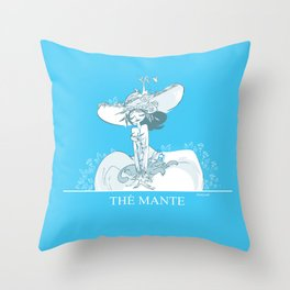 Thé Mante Throw Pillow