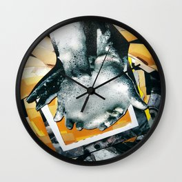 Petroleum based | Collage Wall Clock