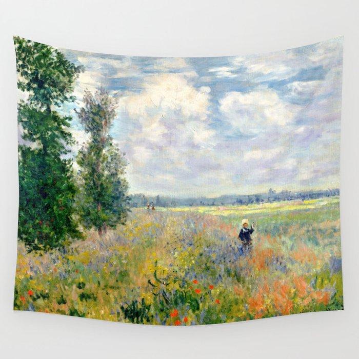 Poppy Fields near Argenteuil by Claude Monet Wandbehang