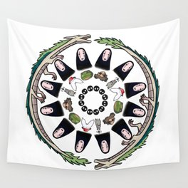 SPIRITED AWAY MANDALA Wall Tapestry