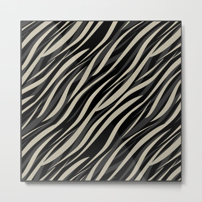 Tiger abstract striped pattern . Metal Print