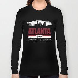 Atlanta GPS Coordinates  Distressed Gifts Long Sleeve T-shirt