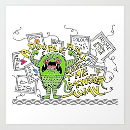 Doodle Monster Art Print