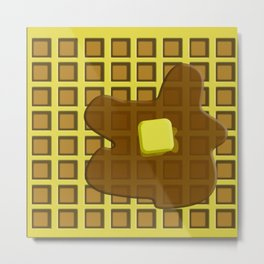 And in the mornin'? I'M MAKING WAFFLES Metal Print