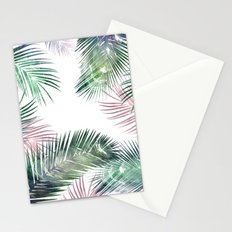 palm leaves tropical Stationery Cards