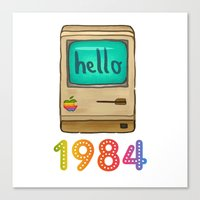 1984 Canvas Prints featuring 1984 by Laura Wood