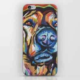 Fun Plott Hound Dog Portrait bright colorful Pop Art iPhone Skin