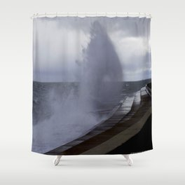 A Gale to Blow Out the Year #3 (Chicago Waves Collection) Shower Curtain