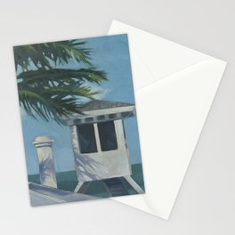 Lifeguard ~ oil study Stationery Cards