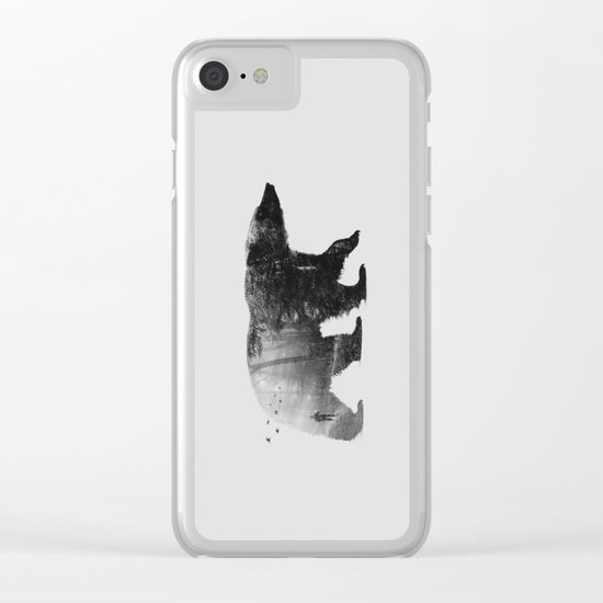 Into the Wild b&w Clear iPhone Case