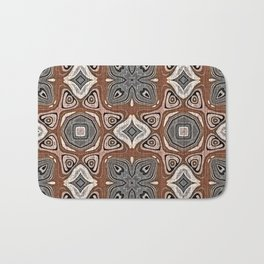 Gray Brown Taupe Beige Tan Black Hip Orient Bali Art Bath Mat