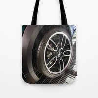 bmw Tote Bags featuring BMW Mini Paceman Wheel by Mauricio Santana