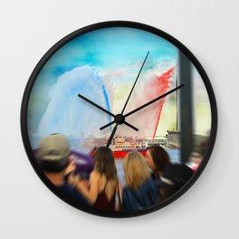 Fire Boat Wall Clock