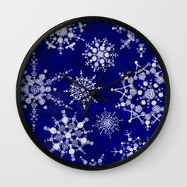 Snowflakes Floating through the Sky Wall Clock