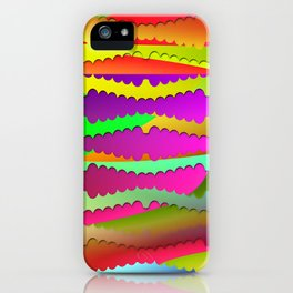 Artistic-fence-pattern iPhone Case