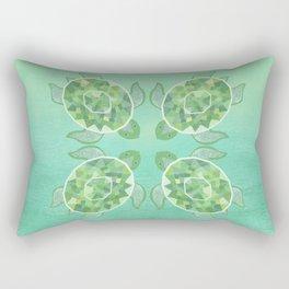Turtle - Emerald Rectangular Pillow