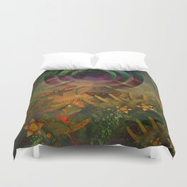 """""""A Psychedelic Forest"""" Duvet Cover"""