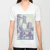 dallas V-neck T-shirts featuring Main & Dallas  by bryantwashere
