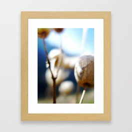 Abstract Flowers Framed Art Print