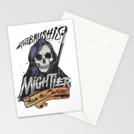 The Brush is Mightier than the Sword Stationery Cards