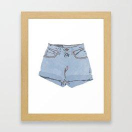 She Wears Short Shorts Framed Art Print