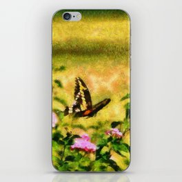 Three Giant Swallowtails - Monet Style iPhone Skin