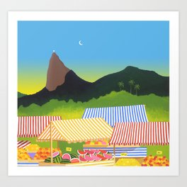FRUIT MARKET IN RIO Art Print