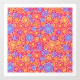 Bright Flowers Extravaganza Art Print