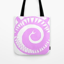 Round Scream in Pink Tote Bag
