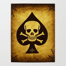 Death Card - Ace Of Spades Poster
