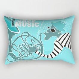 Turquoise Jazz Music Festival Rectangular Pillow