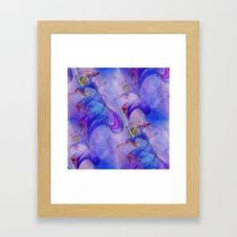 discopatttern blue -1- Framed Art Print