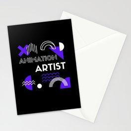 Animation Artist Retro Stationery Cards