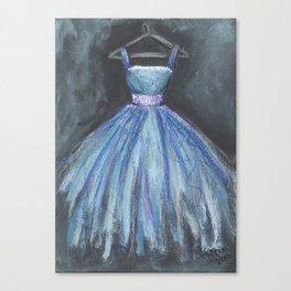 Ballerina Blue Dress Canvas Print